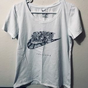 Nike Portland Oregon White Tee Shirt